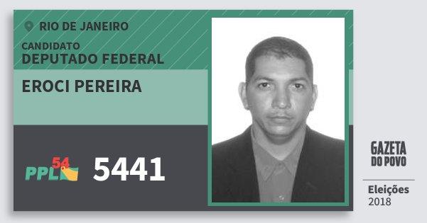 Santinho Eroci Pereira 5441 (PPL) Deputado Federal | Rio de Janeiro | Eleições 2018