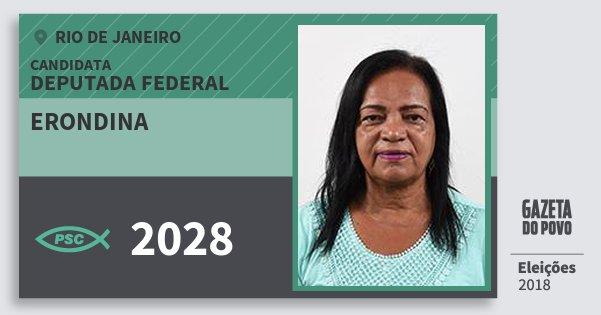Santinho Erondina 2028 (PSC) Deputada Federal | Rio de Janeiro | Eleições 2018