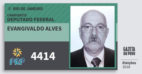 Santinho Evangivaldo Alves 4414 (PRP) Deputado Federal | Rio de Janeiro | Eleições 2018