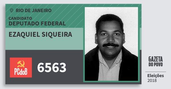 Santinho Ezaquiel Siqueira 6563 (PC do B) Deputado Federal | Rio de Janeiro | Eleições 2018