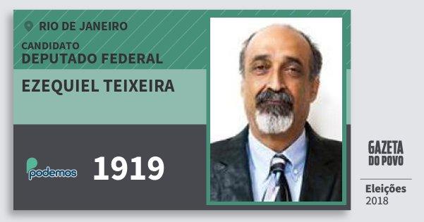 Santinho Ezequiel Teixeira 1919 (PODE) Deputado Federal | Rio de Janeiro | Eleições 2018