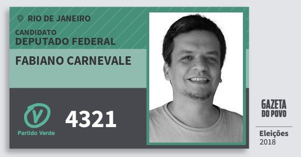 Santinho Fabiano Carnevale 4321 (PV) Deputado Federal | Rio de Janeiro | Eleições 2018