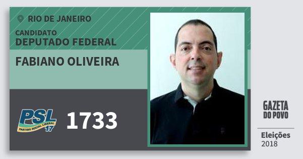 Santinho Fabiano Oliveira 1733 (PSL) Deputado Federal | Rio de Janeiro | Eleições 2018