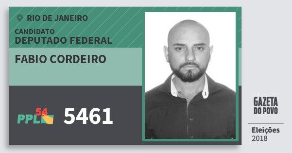 Santinho Fabio Cordeiro 5461 (PPL) Deputado Federal | Rio de Janeiro | Eleições 2018