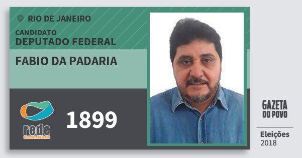 Santinho Fabio da Padaria 1899 (REDE) Deputado Federal | Rio de Janeiro | Eleições 2018