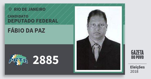 Santinho Fábio da Paz 2885 (PRTB) Deputado Federal | Rio de Janeiro | Eleições 2018