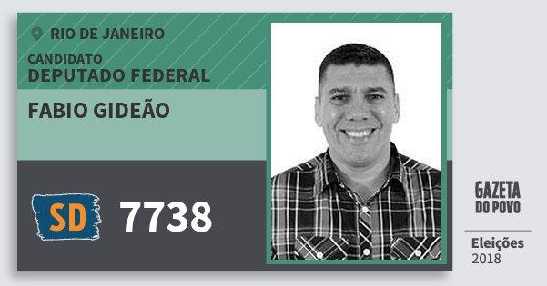 Santinho Fabio Gideão 7738 (SOLIDARIEDADE) Deputado Federal | Rio de Janeiro | Eleições 2018