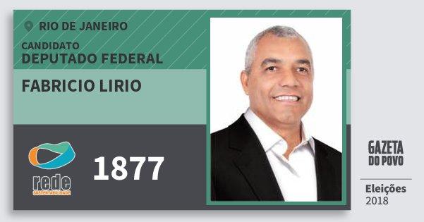 Santinho Fabricio Lirio 1877 (REDE) Deputado Federal | Rio de Janeiro | Eleições 2018