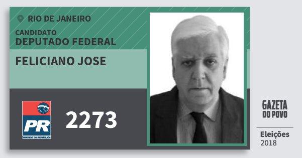 Santinho Feliciano Jose 2273 (PR) Deputado Federal | Rio de Janeiro | Eleições 2018