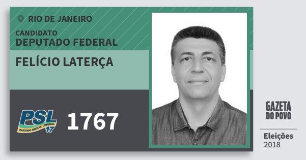 Santinho Felício Laterça 1767 (PSL) Deputado Federal | Rio de Janeiro | Eleições 2018
