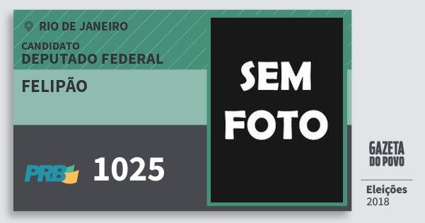 Santinho Felipão 1025 (PRB) Deputado Federal | Rio de Janeiro | Eleições 2018