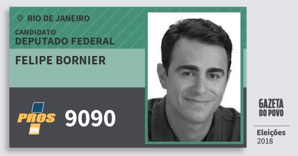 Santinho Felipe Bornier 9090 (PROS) Deputado Federal | Rio de Janeiro | Eleições 2018
