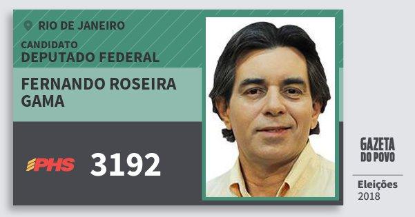 Santinho Fernando Roseira Gama 3192 (PHS) Deputado Federal | Rio de Janeiro | Eleições 2018