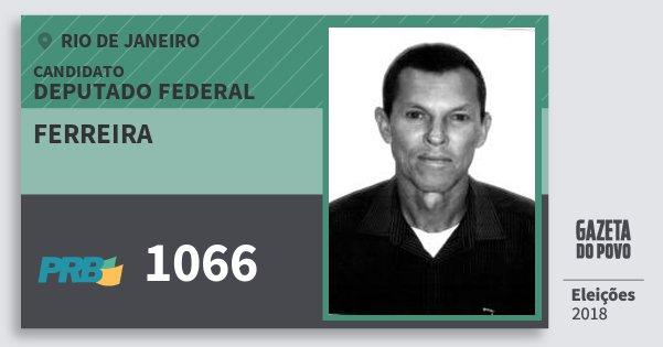Santinho Ferreira 1066 (PRB) Deputado Federal | Rio de Janeiro | Eleições 2018