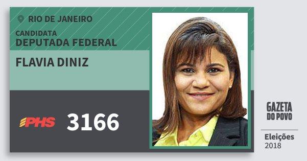 Santinho Flavia Diniz 3166 (PHS) Deputada Federal | Rio de Janeiro | Eleições 2018