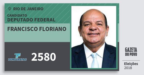 Santinho Francisco Floriano 2580 (DEM) Deputado Federal | Rio de Janeiro | Eleições 2018