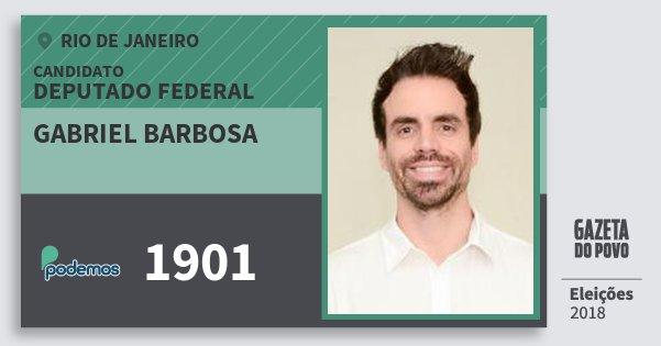 Santinho Gabriel Barbosa 1901 (PODE) Deputado Federal | Rio de Janeiro | Eleições 2018