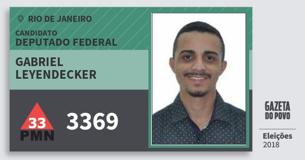 Santinho Gabriel Leyendecker 3369 (PMN) Deputado Federal | Rio de Janeiro | Eleições 2018
