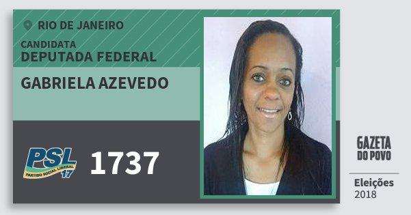 Santinho Gabriela Azevedo 1737 (PSL) Deputada Federal | Rio de Janeiro | Eleições 2018