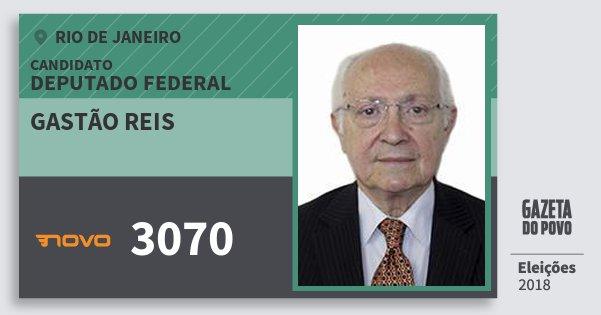 Santinho Gastão Reis 3070 (NOVO) Deputado Federal | Rio de Janeiro | Eleições 2018