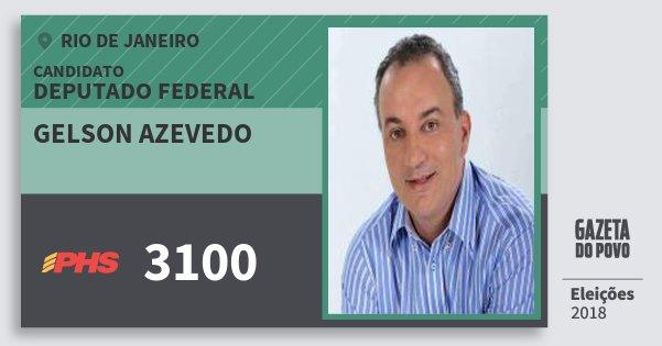 Santinho Gelson Azevedo 3100 (PHS) Deputado Federal | Rio de Janeiro | Eleições 2018