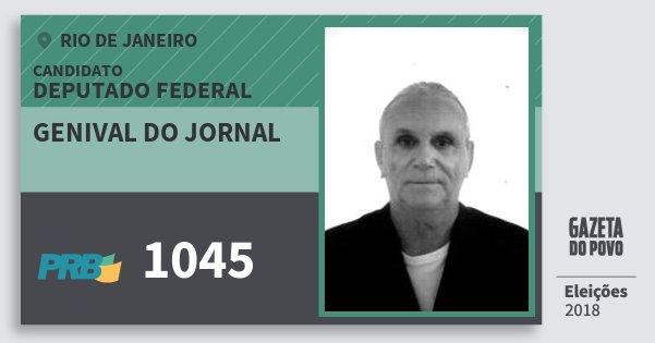 Santinho Genival do Jornal 1045 (PRB) Deputado Federal   Rio de Janeiro   Eleições 2018