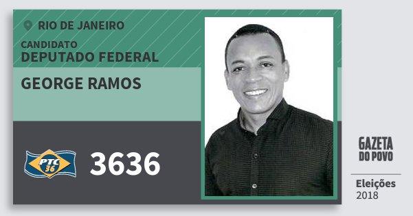 Santinho George Ramos 3636 (PTC) Deputado Federal | Rio de Janeiro | Eleições 2018