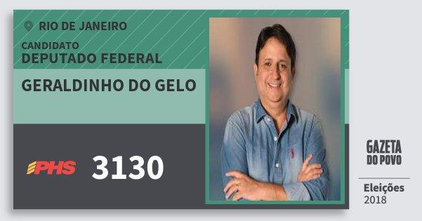 Santinho Geraldinho do Gelo 3130 (PHS) Deputado Federal | Rio de Janeiro | Eleições 2018