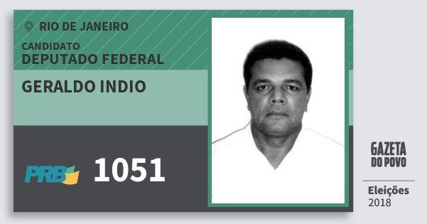 Santinho Geraldo Indio 1051 (PRB) Deputado Federal | Rio de Janeiro | Eleições 2018