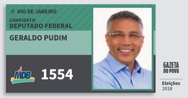 Santinho Geraldo Pudim 1554 (MDB) Deputado Federal | Rio de Janeiro | Eleições 2018