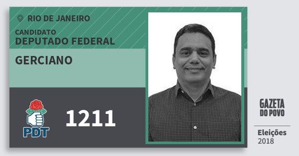 Santinho Gerciano 1211 (PDT) Deputado Federal | Rio de Janeiro | Eleições 2018