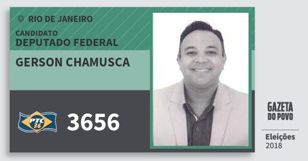 Santinho Gerson Chamusca 3656 (PTC) Deputado Federal | Rio de Janeiro | Eleições 2018
