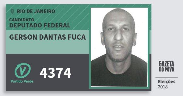 Santinho Gerson Dantas Fuca 4374 (PV) Deputado Federal | Rio de Janeiro | Eleições 2018