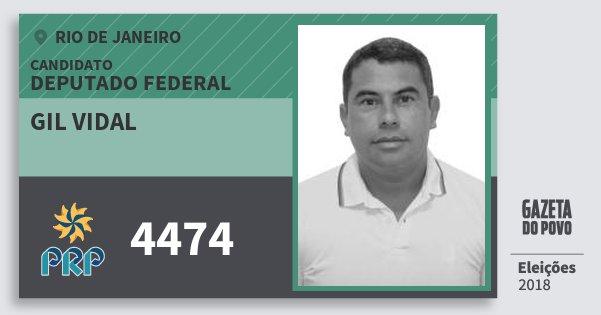 Santinho Gil Vidal 4474 (PRP) Deputado Federal | Rio de Janeiro | Eleições 2018