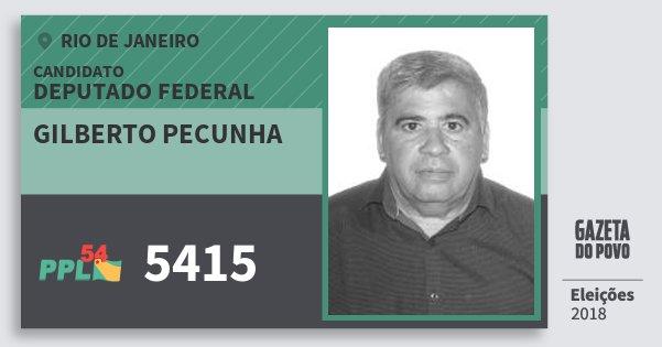 Santinho Gilberto Pecunha 5415 (PPL) Deputado Federal | Rio de Janeiro | Eleições 2018