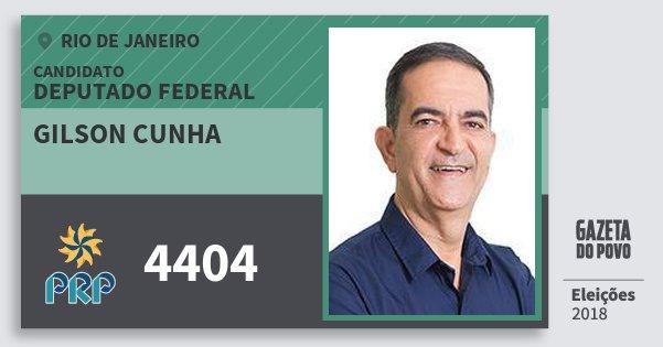Santinho Gilson Cunha 4404 (PRP) Deputado Federal | Rio de Janeiro | Eleições 2018
