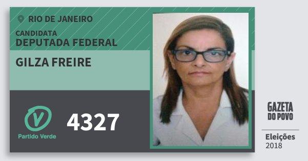 Santinho Gilza Freire 4327 (PV) Deputada Federal | Rio de Janeiro | Eleições 2018