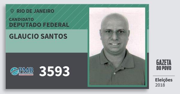 Santinho Glaucio Santos 3593 (PMB) Deputado Federal | Rio de Janeiro | Eleições 2018