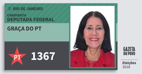 Santinho Graça do Pt 1367 (PT) Deputada Federal | Rio de Janeiro | Eleições 2018