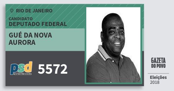 Santinho Gué da Nova Aurora 5572 (PSD) Deputado Federal | Rio de Janeiro | Eleições 2018