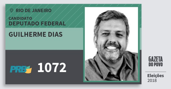 Santinho Guilherme Dias 1072 (PRB) Deputado Federal | Rio de Janeiro | Eleições 2018