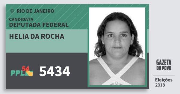 Santinho Helia da Rocha 5434 (PPL) Deputada Federal | Rio de Janeiro | Eleições 2018