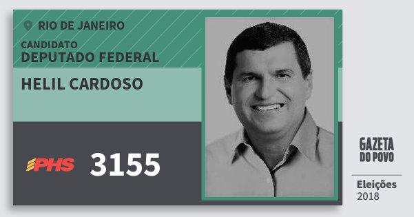 Santinho Helil Cardoso 3155 (PHS) Deputado Federal | Rio de Janeiro | Eleições 2018