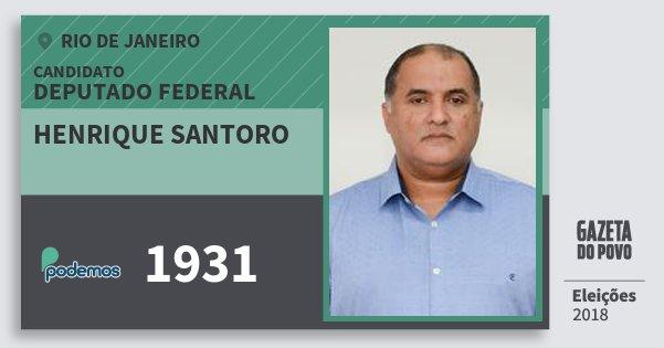 Santinho Henrique Santoro 1931 (PODE) Deputado Federal | Rio de Janeiro | Eleições 2018