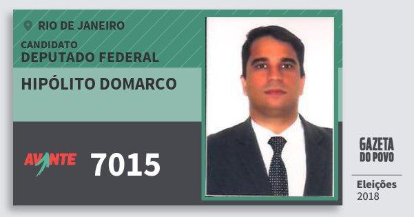 Santinho Hipólito Domarco 7015 (AVANTE) Deputado Federal | Rio de Janeiro | Eleições 2018