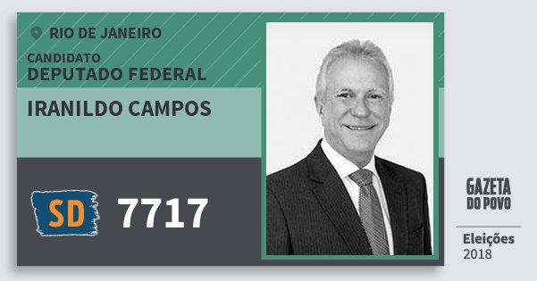 Santinho Iranildo Campos 7717 (SOLIDARIEDADE) Deputado Federal | Rio de Janeiro | Eleições 2018