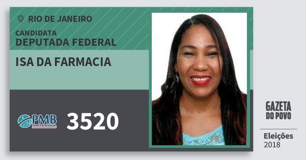 Santinho Isa da Farmacia 3520 (PMB) Deputada Federal | Rio de Janeiro | Eleições 2018