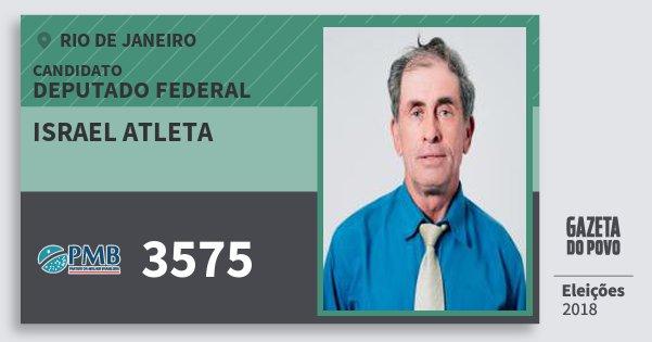 Santinho Israel Atleta 3575 (PMB) Deputado Federal | Rio de Janeiro | Eleições 2018