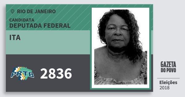 Santinho Ita 2836 (PRTB) Deputada Federal | Rio de Janeiro | Eleições 2018