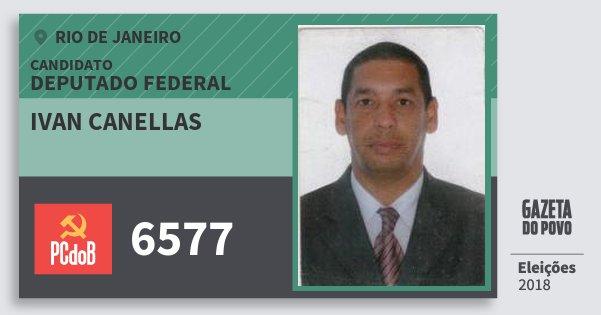 Santinho Ivan Canellas 6577 (PC do B) Deputado Federal | Rio de Janeiro | Eleições 2018